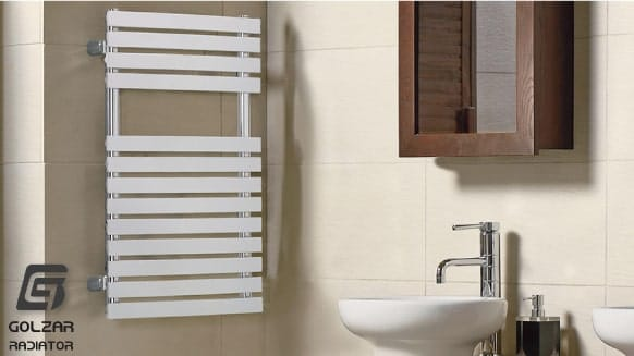حوله خشک کن سفارشی و دکوراتیو داخل سرویس بهداشتی یا حمام