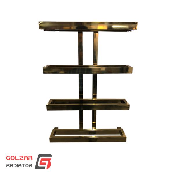 حوله خشک کن مدرن استیل مدل چهار طاقچه رنگ طلایی